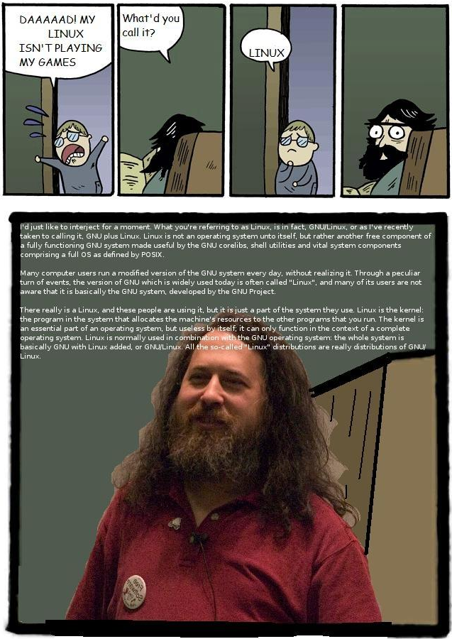 Poking fun at Stallman... with love